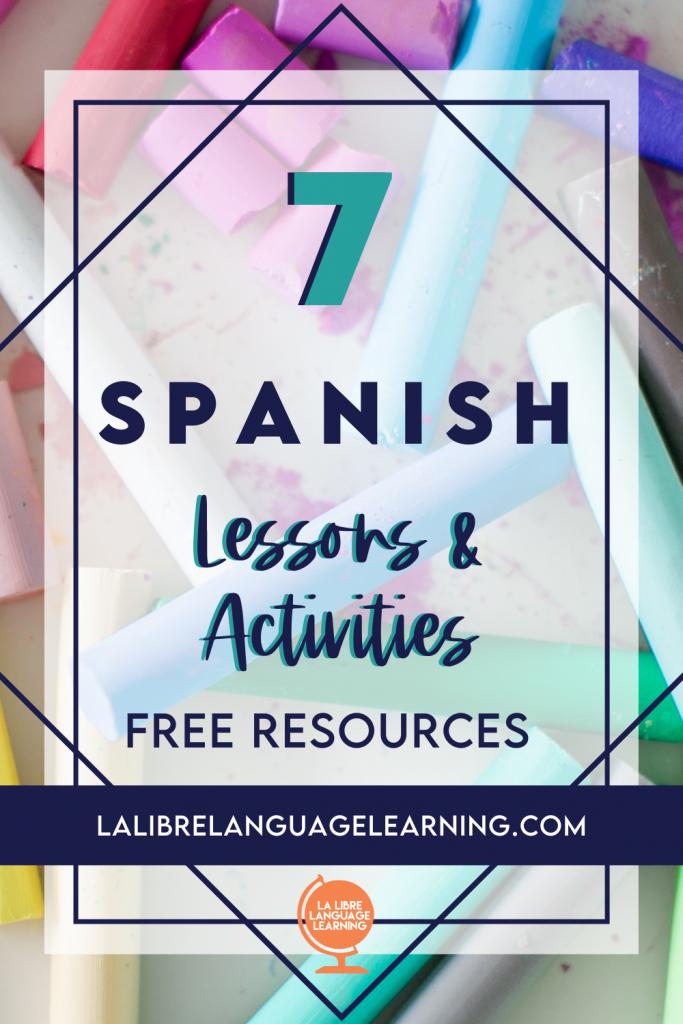 free-spanish-lesson-plans